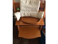 Stokke triptrap high chair with baby set