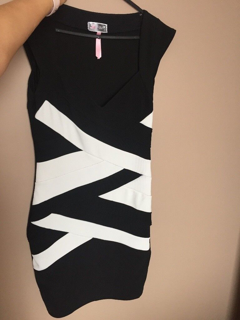 Lipsy dressin Leicester, LeicestershireGumtree - Lovely black and white lipsy dress. Has been worn but very good condition Size 12