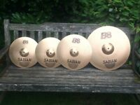 "Cymbals - Sabian B8 Cymbal Set - 20"" Ride 16"" Crash 14"" Hi Hats - Will Split"