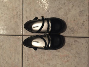 Black dress shoes.  Toddler size 9