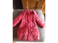 Girls Mayoral deep pink coat age 3