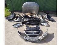 Front end original VW Passat CC 1.8 TSI Pre facelift bumper bonnet headlight fender mudguards LHD