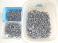 5kg of 50mm galvanised clout nails (large head) .New.