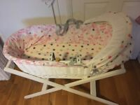 Baby Joules girls Moses basket new