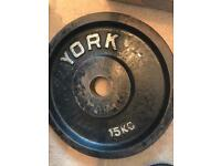 15kg York Olympic weight