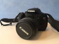 Canon 600d with 18-55mm lens