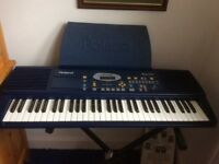 Roland Keyboard plus stand and music books.