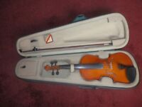 FANTASTIC VIOLIN, WITH CASE AND BOW