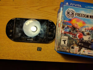 Playstation Vita with 8 games 16 GB memory card and charger