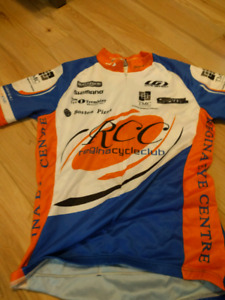 Two of the same cycling jerseys sz small & size med