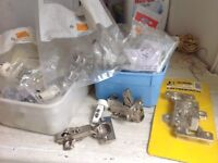 Assortment of cupboard/wardrobe hinges for sale