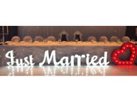 LED Light up Letters for Weddings