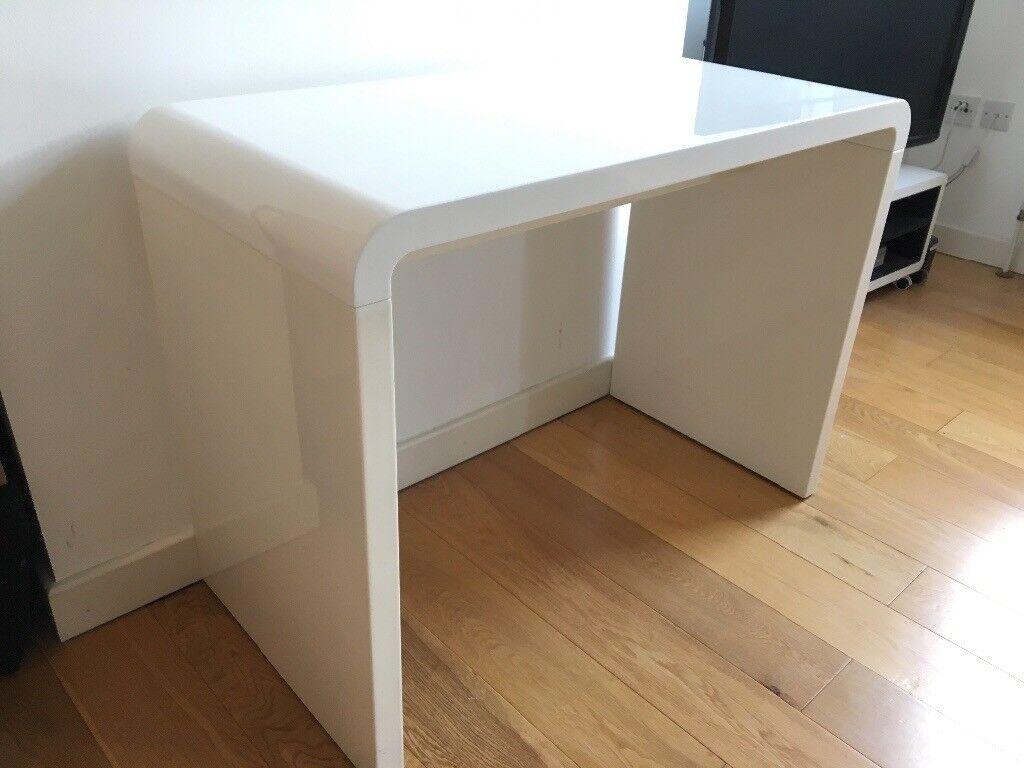 Dwell Hudson Compact Desk White Gloss