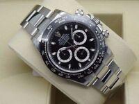 Rolex Daytona Ceramic Bezel Cosmograph Black Dial SW7750