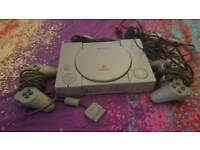 PlayStation1 console with complete accessories