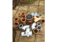 Unused Various Drainage Items - 30 Pieces in All