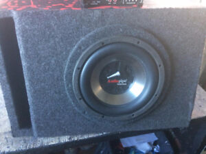 AUIDO PIPE 10 INCH SUBWOOFER WITH A JL XD300/1 AMP