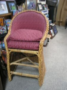 Wicker style bar stool