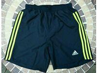 Adidas Response 7 inch Running Sports Shorts (New & Unworn) in Black and Yellow