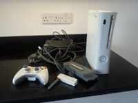 Xbox 360 with wifi adapter, controller and hard drive