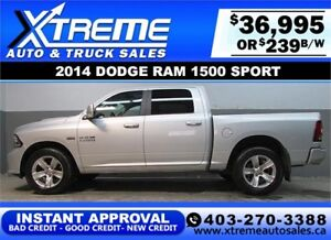 2014 DODGE RAM SPORT CREW **INSTANT APPROVAL** $0 DOWN $239/BW!