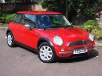 AA WARRANTY!!! RED 2004 MINI ONE 1.6 3dr, FSH, 1 YEAR MOT, ONLY 62000 MILES