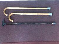 Selection of 3 walking sticks