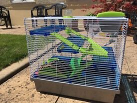 1 Large Hamster/ Mouse Cage and 1 middle cage