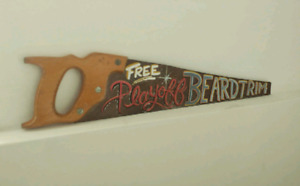 Hand painted vintage saw