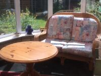 Conservatory chair and table