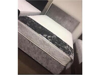 NEW Velvet double bed with mattress 🥂