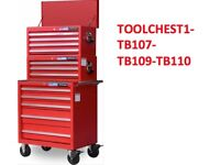 JEFFERSON 3 TEIR TOOL CHEST CABINET COMBINED DEAL BALL BEARING SLIDING TOOLCHEST PACKAGE