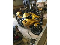 yellow/gold triumph 955 daytona 06 plate for sale