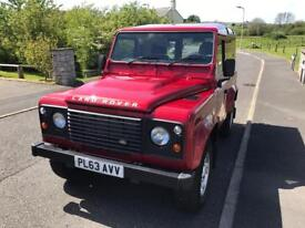Land Rover Defender hard top 2.2 TDCi county pack 29k miles Firenze Red NO VAT PRICE REDUCED