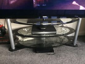 Tv glass oval stand for up to 55inches screens