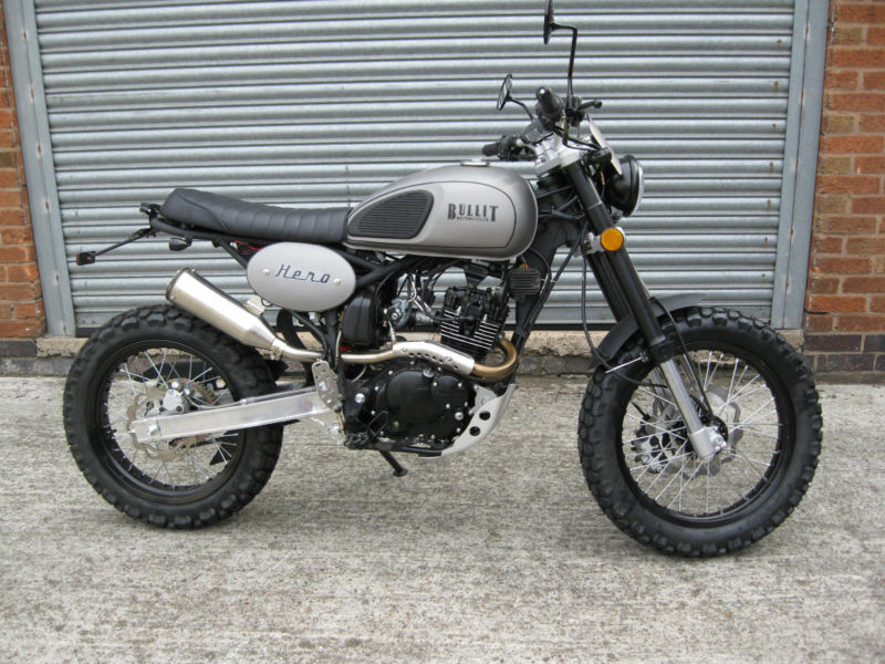 bullit motorcycles hero 125 retro scrambler brand new in leicester leicestershire gumtree. Black Bedroom Furniture Sets. Home Design Ideas
