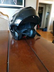 XL Motorcycle Helmet and Gloves