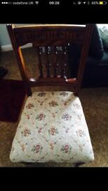 2 Antique Dinning Chairs