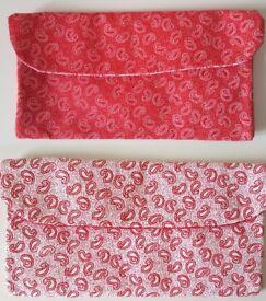 [Handmade] Fabric Wallet [Multi purpose; wallet/brush holder organiser] 2 DESIGNS AVAILABLE