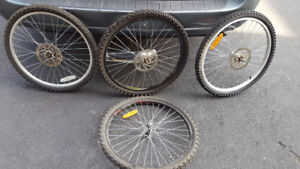 """24"""" mountain bike wheeels with disck break and tire"""