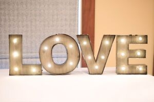 LOVE sign for wedding reception