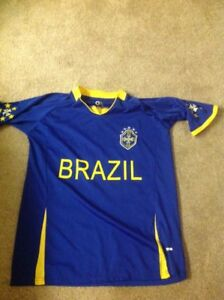 Rare Ladies Soccer Shirt Brazil Fifa World Cup Excellent Shape