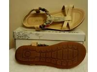 beige flat summer sandals