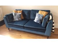 3 seater sofa and accent chair