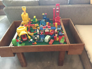 Lego table and pile of Lego