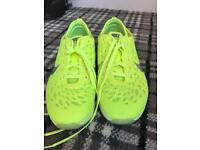 Bright yellow size 4.5 ladies trainers gym shoes nike like new