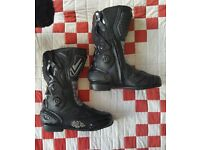 Ladies Motorcycle Boots, Leather, Frank Thomas
