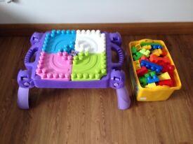 Mega blocks table and blocks