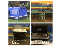 Variety of camping gear for sale