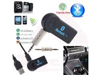 Aux Bluetooth in-car adapter (can be linked to smart phone and other devices)